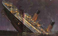 Le Titanic qui coule