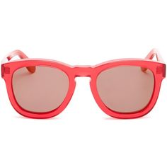 WILDFOX Unisex Classic Fox Deluxe Wayfarer Sunglasses featuring polyvore, fashion, accessories, eyewear, sunglasses, glasses, candy red, red mirror sunglasses, matte lens sunglasses, wildfox sunglasses, mirror sunglasses and tortoise wayfarer sunglasses