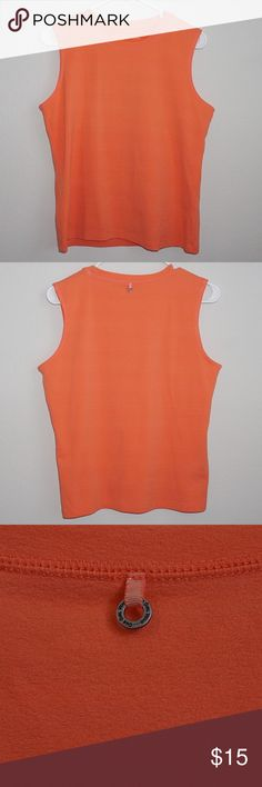 "Anthropologie One Girl Who... Tank Top Anthropologie One Girl Who... Tank Top Color: Orange Size: Large  Condition: Pre-Owned; Excellent  Material: 92% Nylon✖️8% Spandex  Measurements: Shoulder to Hem 23""✖️ Armpit 19"" Anthropologie Tops Tank Tops"