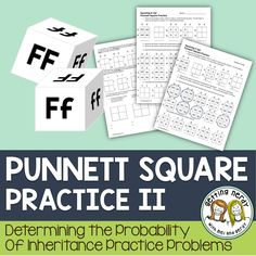 Punnett Square Practice for Genetics. Engage your students with this scaffolded lesson to teach them the basics of Punnett Squares and have them work their way up to more difficult monohybrid cross practice problems. With multiple methods of assessing t High School Biology, Biology Teacher, Teaching Biology, Science Biology, Middle School Science, Science Education, Life Science, Igcse Biology, Ap Biology