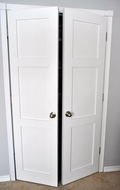From Keep Calm and Decorate: replacing sliding closet doors with regular doors