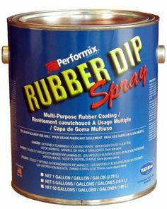 AWarehouseFull - Rubber Dip Sprayable 1 Gallon Can Choose your colors, $67.95 (http://www.awarehousefull.com/rubber-dip-sprayable-1-gallon-can-choose-your-colors/)
