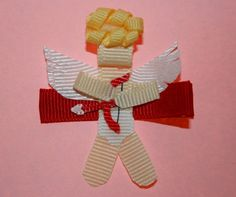 Valentine Cupid Sculpted Ribbon Hair Clip or Pin by Magnificence, $4.00