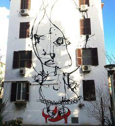 Artist: Danilo Bucchi  Location: Rome Italy  ℹ More info at StreetArtRat.com  #travel #streetart #street #streetphotography #tflers #sprayart #urban #urbanart #urbanwalls #wall #wallporn #follow #stencilart #art #graffiti #instagraffiti #instagood #artwork #mural #graffitiporn #photooftheday #streetartistry #pasteup #instagraff #instagrafite #streetarteverywhere #italy #rome
