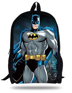 5410e5d29d9e 16-inch Mochila Batman Bag Hero Backpack Kids Boys Age 7-13 Cool Bataman  Backpack Children School Bags For Teenagers