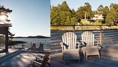 Sekelskifte på strandtomt med kvällssol Outdoor Chairs, Outdoor Furniture, Outdoor Decor, Boat House, Home Decor, Homemade Home Decor, Garden Chairs, Decoration Home, Lawn Chairs