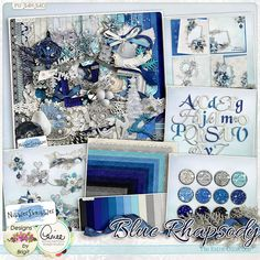Blue Rhapsody: The Collection. I received this beautiful collection as a NSD PIN IT to Win It from the Studio Team Member Kimber Kat. Thank you Kim and the Studio collective for this awesome gift :)
