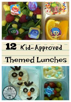 Back to School themed lunch ideas | Bentos | Fun Food | Snack Ideas | Disney  via @Advinfamilyhood