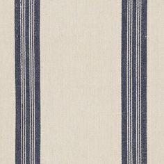 Leblanc Stripe - Navy - Artiste de la Mer - Fabric - Products - Ralph Lauren Home - RalphLaurenHome.com