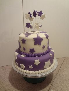 birthday cake with stars - Google Search