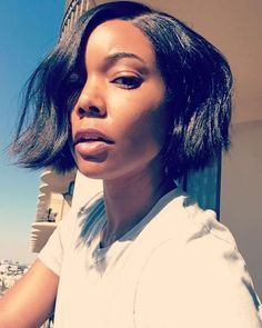 Gabrielle Union's New Chin-Length Bob Is the Answer to Easy Weekend Beauty