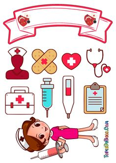 Nurses Week Quotes, Nurse Cartoon, Nurse Party, 1st Birthday Cakes, Hand Embroidery Patterns, Scrapbook Stickers, Cute Cartoon Wallpapers, Cute Drawings, Cake Toppers