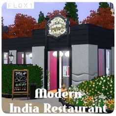 Modern India restaurant by flox1 - The Exchange - Community - The Sims 3
