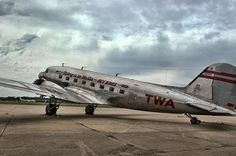 This great looking restored Douglas DC-3 is part of the fleet of aircraft at the National Airline Museum at the Wheeler Downtown Airport in Kansas City, Missouri.  This photograph has been featured in the Kansas Photographers group on Fine Art America.