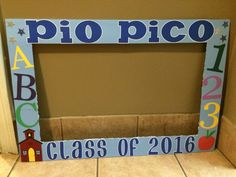 Graduation photo frame preschool