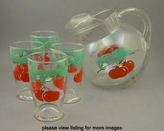 tomato pitcher and glasses