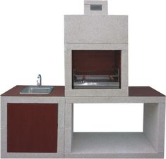 BBQ and ovens-Modern Barbecue with Sink AV810F