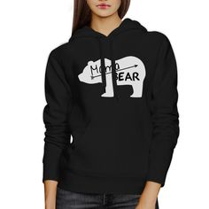 Mama Bear Unisex Black Cute Hoodie Unique Gift Ideas For New Moms