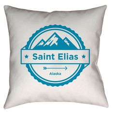 Saint Elias, Alaska Three Peak Mountain - Throw Pillow