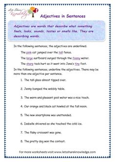 page 3 adjectives worksheet - <img> page 3 adjectives worksheet Punctuation Worksheets, Worksheets For Grade 3, Adjective Worksheet, English Worksheets For Kids, Printable Worksheets, Basic Grammar, Grammar Lessons, English Language Classes, Grammar Anchor Charts