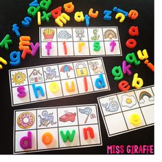 Sight Words Practice with Magnet Letters