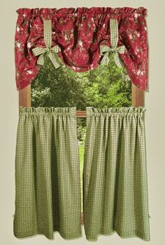 Country Kitchen Curtains - Thearmchairs.com   CURTAINS & DRAPES ...