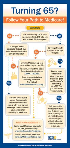 Turning 65? Follow Your Path to Medicare Infographic