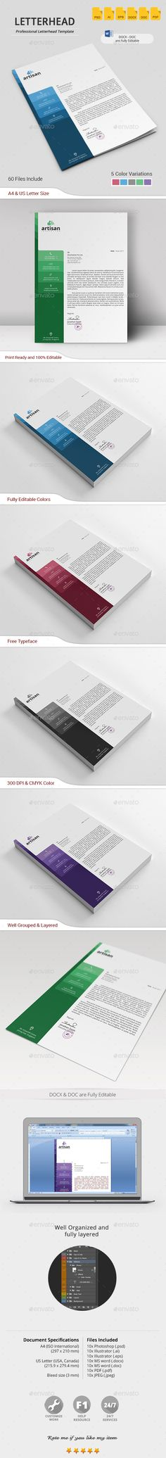 Corporate Letterhead   Print Templates Stationery Printing And