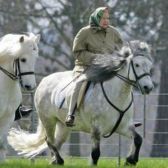 She maybe the Queen of England and celebrating her Diamonds Jubilee, but she is a horsewomen and a Seasoned Rider too who is still riding.