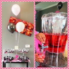 Bridal shower Bridetini Black and pink favors Spin Pin, Shower Ideas, Bridal Shower, Favors, Pink, Black, Shower Party, Presents, Black People