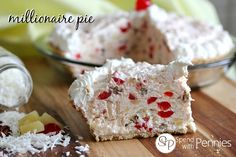 Millionaire Pie  (No bake and only 5 Minutes to Prep!) Love this stuff have to try to make it at home havn't found it at any resturants for a long time