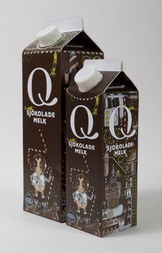 Bacana mesmo é quando produtos comuns, como o leite, ganham embalagens nada Convencionais!  Designed by Aleksander Bonden Isachsen