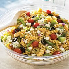 Greek Pasta Salad [made it! best pasta salad EVER!]