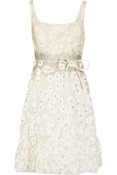 Valentino Embellished silk-organza dress and other apparel, accessories and trends. Browse and shop 8 related looks. White Sequin Dress, White Fitted Dress, Ivory Dress Short, Ivory Dresses, Silk Organza, Organza Dress, Ivory Cocktail Dress, Cocktail Dresses, White Dress Winter