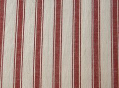 Minick & Simpson's 'Midwinter Woven Reds' cotton ticking collection - Ticking Stripe   buy in-store and online at Ray Stitch
