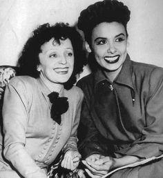 Edith Piaf with Lena Horne