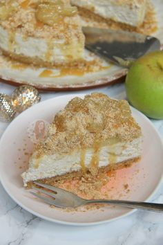 Buttery Biscuit Base, Vanilla Cinnamon Apple Crumble Cheesecake Filling, and even more Crumble Apple Goodness on top. Soooo sorry if you don't like crumble, because...