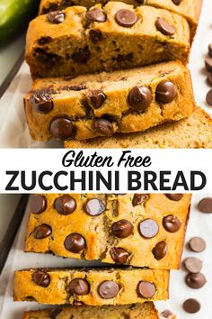 The BEST Gluten Free Zucchini Bread. So moist, tender, and fluffy, you'd never guess it's gluten free! Made with almond flour, glutenfree flour, classic spices, and no sugar it's healthy and delicious. Add chocolate chips, or enjoy it on its own for a healthy breakfasts and snacks! #glutenfree #zucchinibread #wellplated via @wellplated Gluten Free Zucchini Bread, Zucchini Banana Bread, Zucchini Bread Recipes, Gluten Free Treats, Gluten Free Baking, Gluten Free Desserts, Gluten Free Recipes, Desserts With Chocolate Chips, Chocolate Recipes