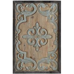 Turn your blank wall into a beautiful wall with our carved panel that boasts a lightly distressed border, subdued palette and four-sided <i>fleur de lis motif</i> for a touch of regality. An impressive piece that's fit for a king. Or queen.