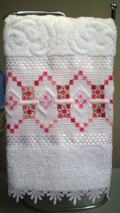 Discover thousands of images about L Hardanger Embroidery, Learn Embroidery, Cross Stitch Embroidery, Hand Embroidery, Embroidery Designs, Bookmark Craft, Swedish Weaving, Drawn Thread, Cross Patterns