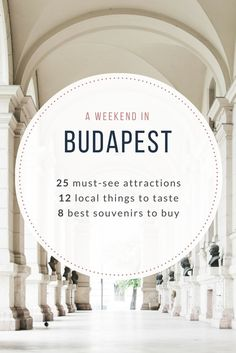 A weekend in Budapest: 25 must-see attractions, 12 local things to taste, 8 best souvenirs to buy - from travel blog: http://Epepa.eu
