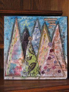 12x12 'Winter Wonderland' Mixed Media Canvas by TheAlternativeMuse