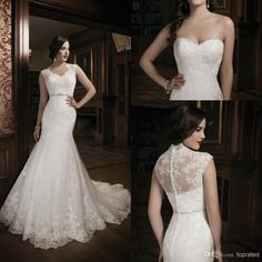 386be0a4ce6 Online Shopping Hot Strapless Sweetheart Lace Trumpet Wedding Dresses Scoop  Back Beaded Belt Court Train Gown