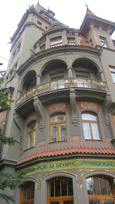 Art Nouveaue Architecture, Prague. HERMOSO, DE LA BELLA E HISTORICA PRAGA.