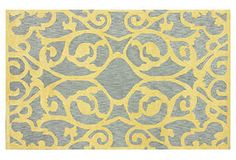 Sometimes a rug can make the statement and enough will be said. Stern Rug, Gray - One Kings Lane