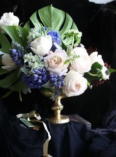 gorgeous bouquet inspired by Yves Saint Laurent and Pierre Berge