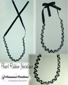 Diy Fashion Accessories Necklace pearl ribbon necklace