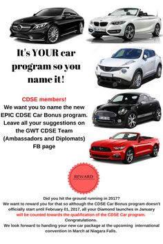 CDSE MEMBERS listen up ! It was an Epic CDSE call tonight - JAMMED call.  See poster for SPECIAL ANNOUNCEMENT and share.  Will you be getting your NEW CAR package at the up coming convention in March?