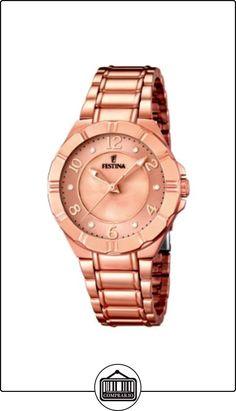 Festina  F16728/1 - Reloj de cuarzo para mujer, con correa de acero inoxidable, color dorado  ✿ Relojes para mujer - (Gama media/alta) ✿