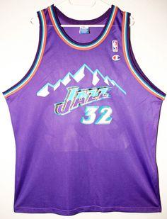 Champion NBA Basketball Utah Jazz #32 Karl Malone Trikot/Jersey Size 48 - Größe XL - 79,90€ #nba #basketball #trikot #jersey #ebay #sport #fitness #fanartikel #merchandise #usa #america #fashion #mode #collectable #memorabilia #allbigeverything